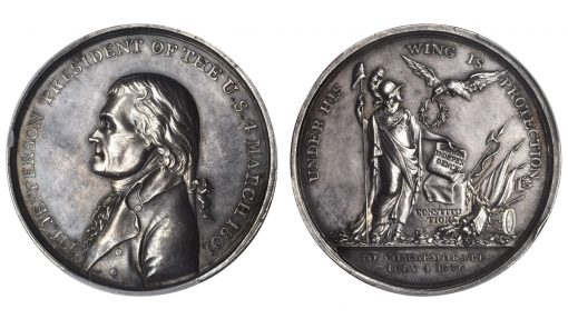 1801 Thomas Jefferson Inaugural Medal