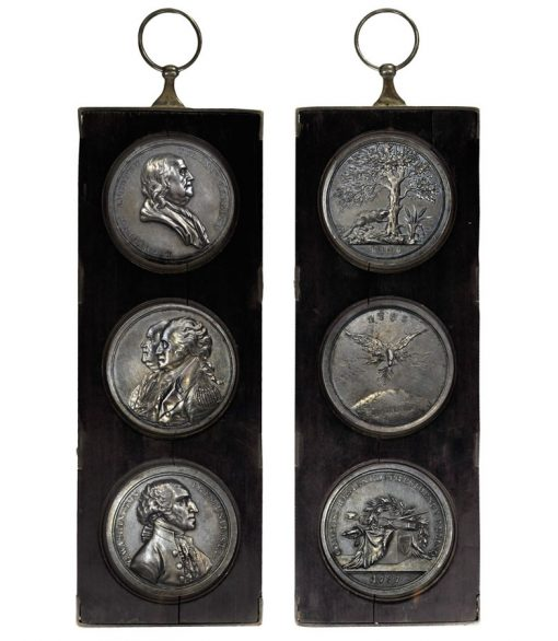 "1805 Trio of ""History of the Revolution"" Silver Medals"