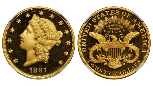 1891 Liberty Head Double Eagle