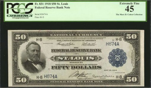 1918 $50 Federal Reserve Bank Note