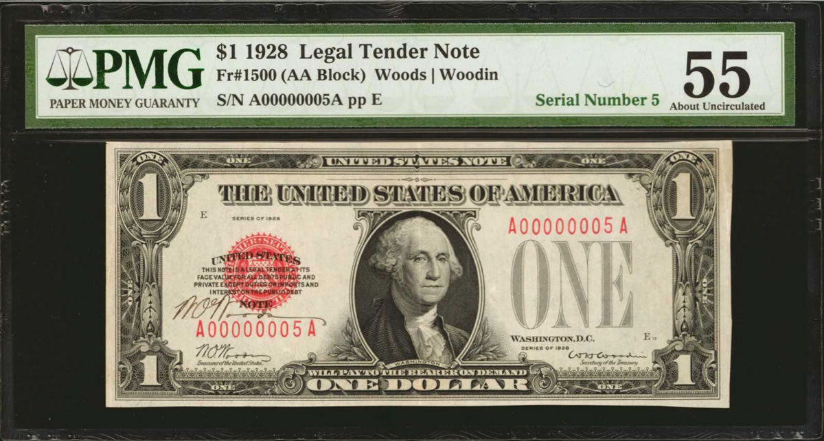 $5 note serial number competition