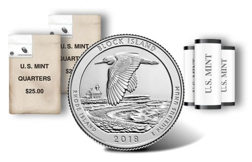 Block Island quarter, rolls and bags