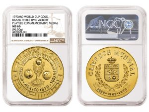 NGC Certifies Rare Medal Struck for 1970 Brazilian Soccer Team