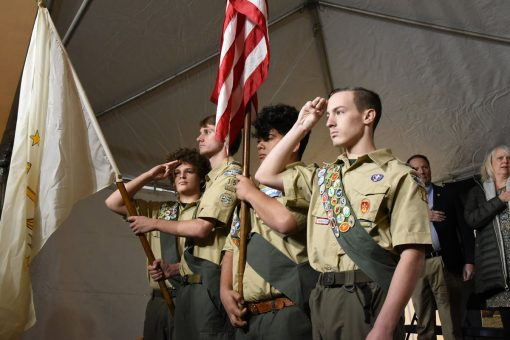 Members of Boy Scout Troop #15