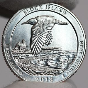 Photo of Clad 2018-P Uncirculated Block Island National Wildlife Refuge Quarter - Reverse