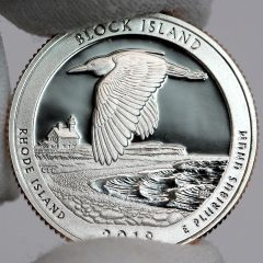 Photo of Clad 2018-S Proof Block Island National Wildlife Refuge Quarter - Reverse