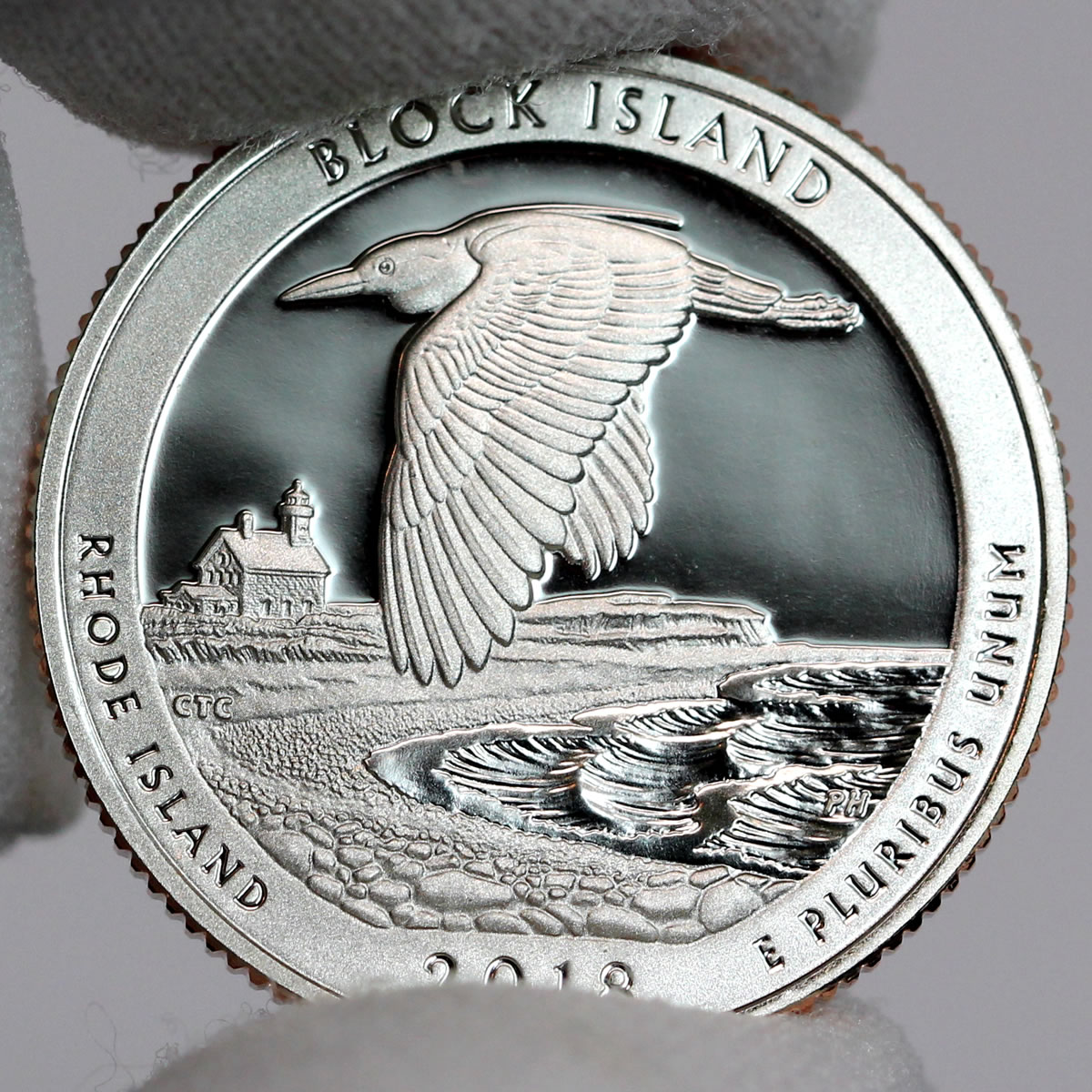 RHODE ISLAND  UNCIRCULATED AMERICA THE BEAUTIFUL 2018 D BLOCK ISLAND