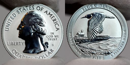 Photos of 2018-S Reverse Proof Block Island National Wildlife Refuge Quarter