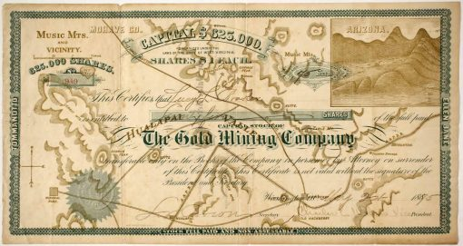 The Gold Mining Company Stock certificate 949