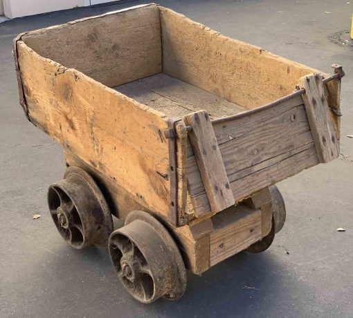 old wood ore car from a mine in Utah