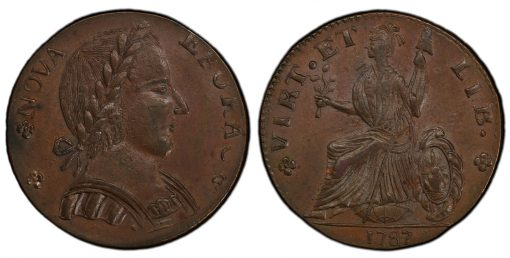 1787 NY Nova Eborac Large Head
