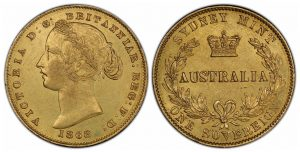 PCGS Authenticates Unique 1868/6 Australia Overdate Sovereign