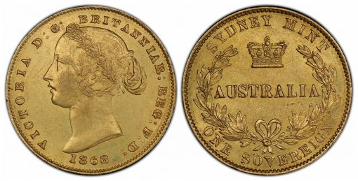 1868 over 6 Australia sovereign