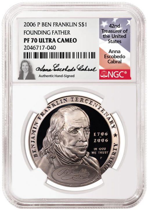2006-P Ben Franklin Founding Father PF70 Ultra Cameo