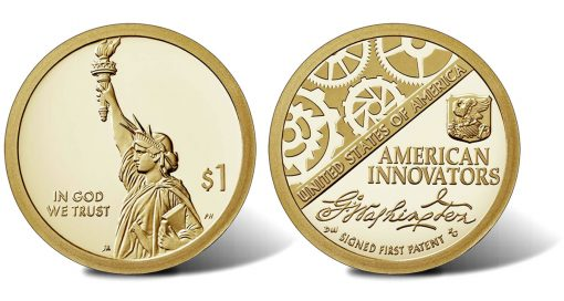 2018-S Proof American Innovation $1 Coin - obverse and reverse