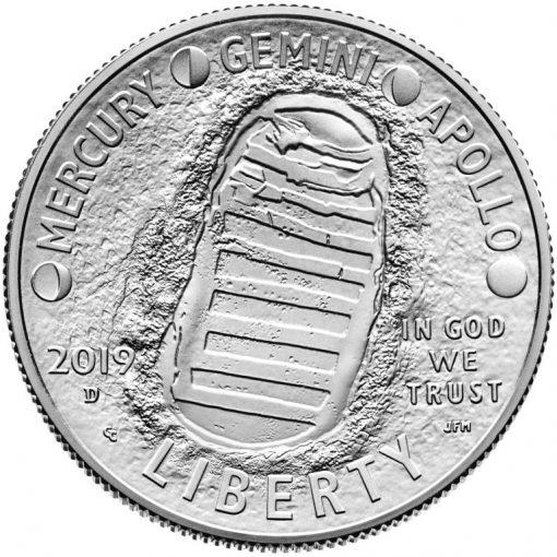 2019-D Uncirculated Apollo 11 50th Anniversary Half Dollar - Obverse