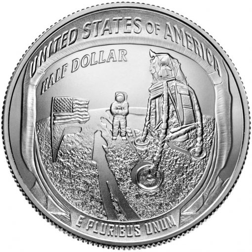 2019-D Uncirculated Apollo 11 50th Anniversary Half Dollar - Reverse