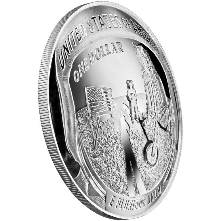 2019 Apollo 11 50th Anniversary 1 Oz Proof Silver Dollar
