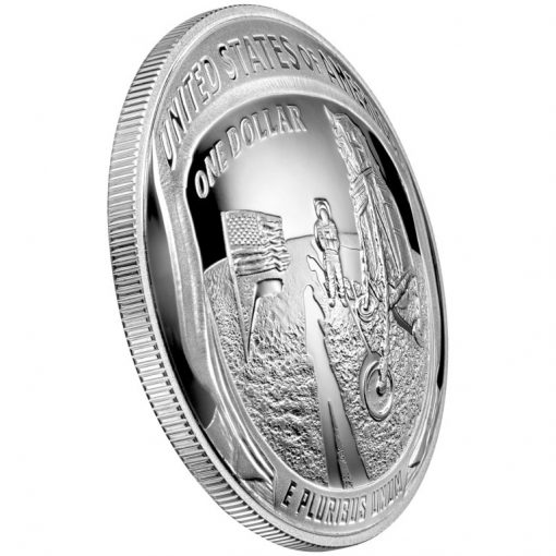 2019-P Proof Apollo 11 50th Anniversary Silver Dollar - Reverse Angle
