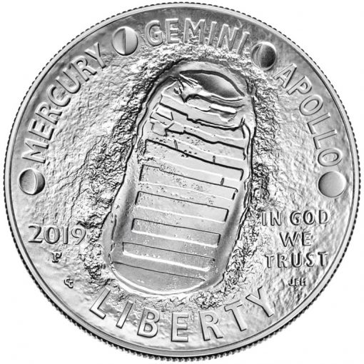 2019-P Uncirculated Apollo 11 50th Anniversary Silver Dollar - Obverse