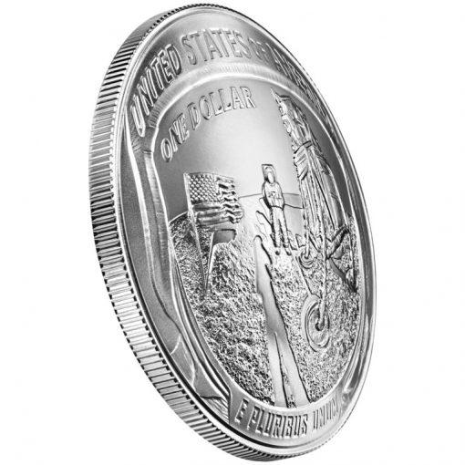 2019-P Uncirculated Apollo 11 50th Anniversary Silver Dollar - Reverse Angle