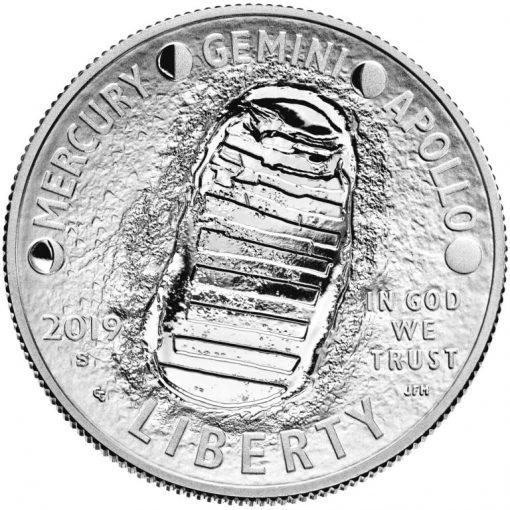 2019-S Proof Apollo 11 50th Anniversary Half Dollar - Obverse