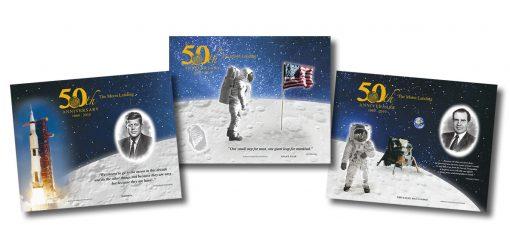 Apollo 11 50th Anniversary Commemorative Engraved Print Collection