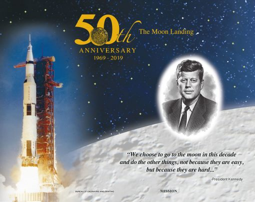 Apollo 11 50th Anniversary Commemorative Engraved Print Collection - Mission