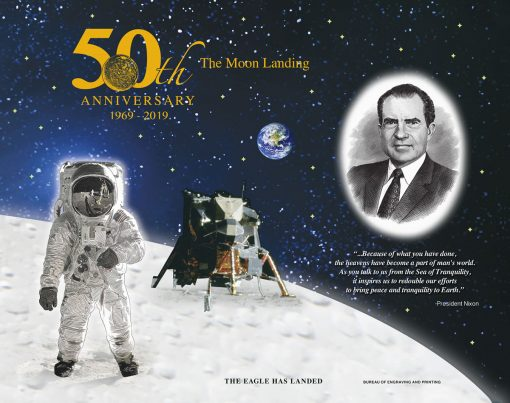 Apollo 11 50th Anniversary Commemorative Engraved Print Collection - The Eagle Has Landed
