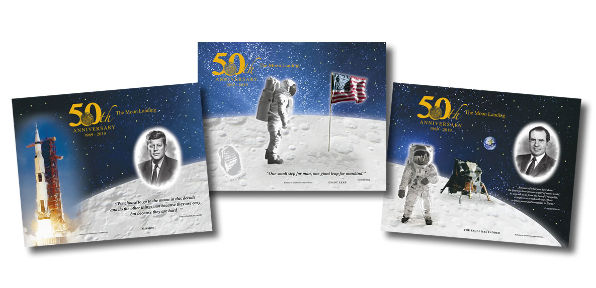 6 Coin Mint Set UNC 50th anniversary of Moon landing 2019 RAM Uncirculated