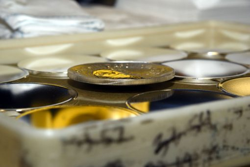 U.S. Mint Photo of 2019-P Proof Apollo 11 50th Anniversary Silver Dollar - Edge
