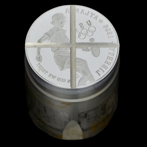 1996 Olympics – Tennis Silver Dollar Die – X-Cancelled.