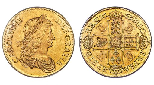 1663 Charles II gold Proof Pattern Crown
