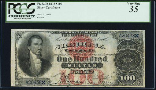1878 $100 Silver Certificate