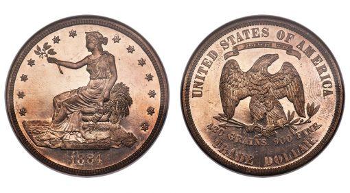1884 Trade dollar