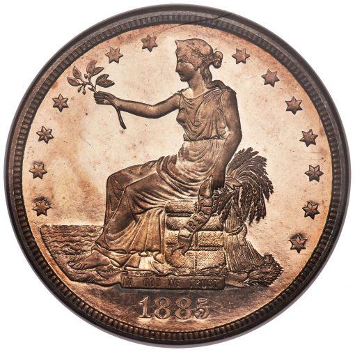 1885 Trade Dollar - obverse