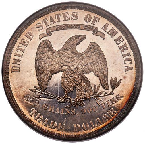 1885 Trade Dollar - reverse
