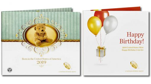 2019 Birth Set and 2019 Happy Birthday Coin Set