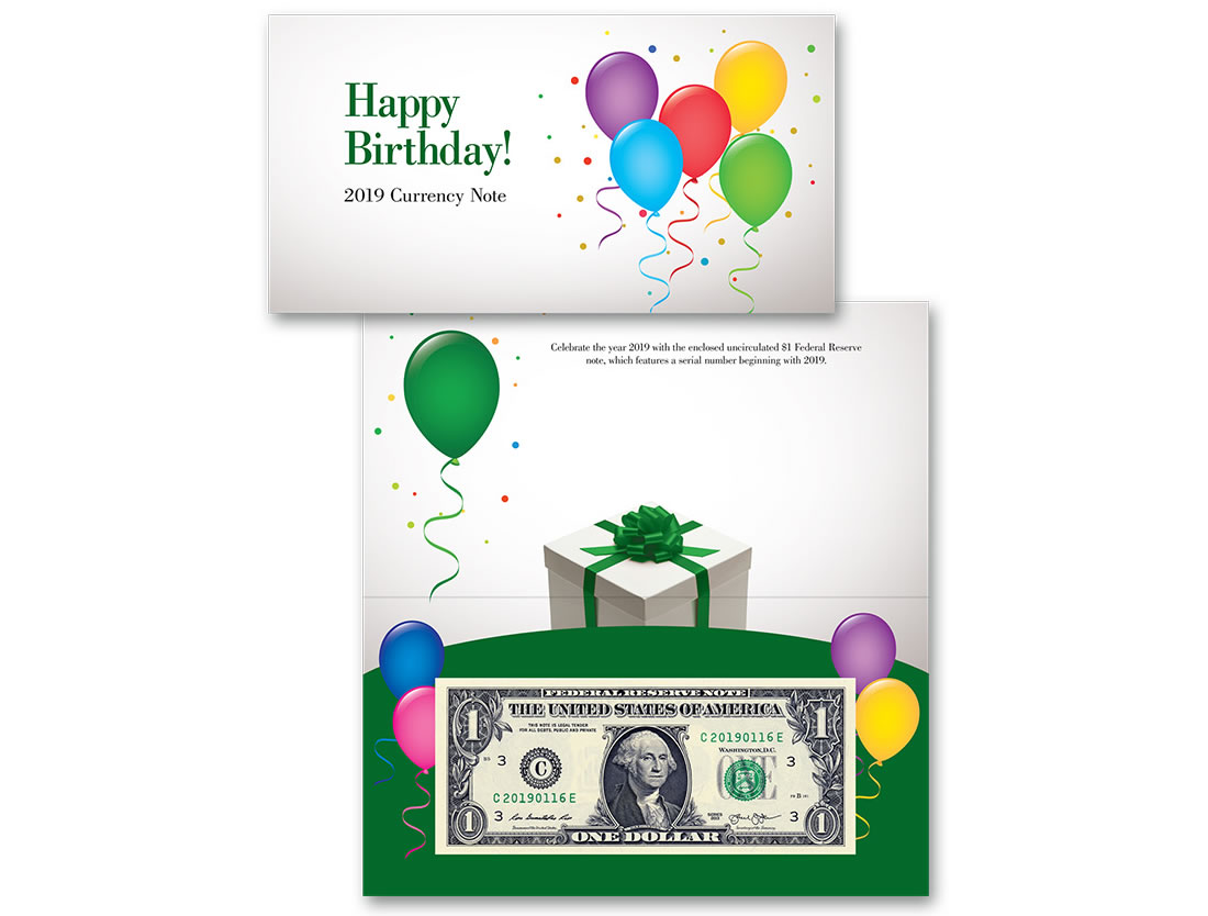 Happy Birthday 1 Note Features 2019xxxx Serial Number
