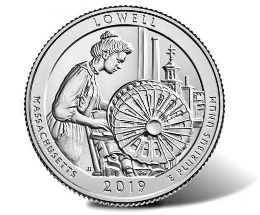 2019 Lowell National Historical Park Quarter - Reverse