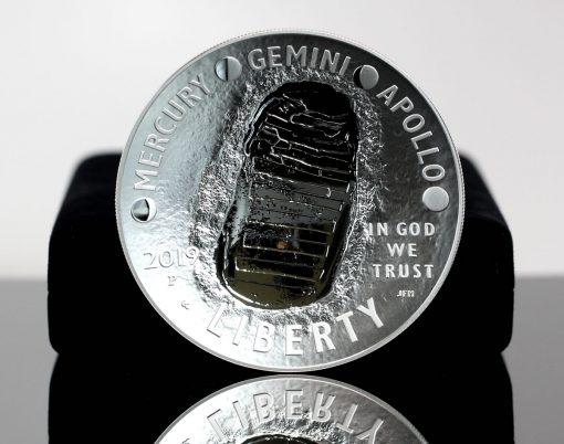 2019-P Proof Apollo 11 50th Anniversary Five Ounce Silver Dollar - Obverse