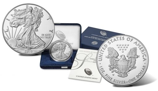 2019-W Proof American Silver Eagle, case and certificate