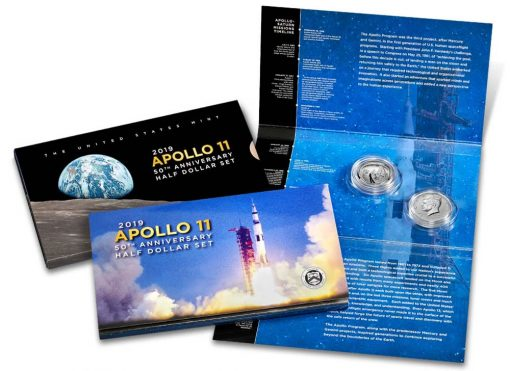 Apollo 11 50th Anniversary 2019 Proof Half Dollar Set