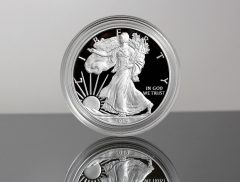 CoinNews photo of a 2019-W Proof American Silver Eagle - obverse