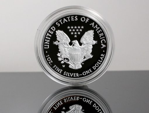 CoinNews photo of a 2019-W Proof American Silver Eagle - reverse