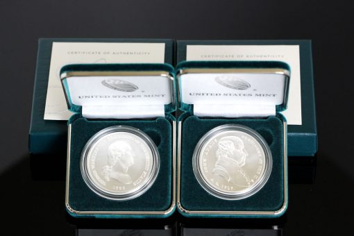 George Washington and John Adams Presidential Silver Medals - Packaging