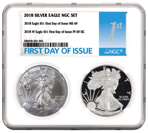 NGC Small Multi Coin Holder for Silver Eagle Set