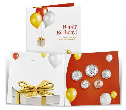 Opened 2019 Happy Birthday Coin Set