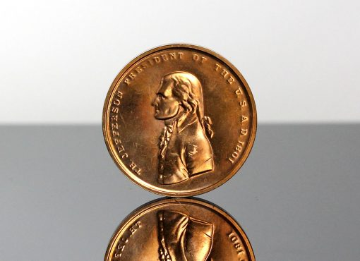 Thomas Jefferson Presidential Bronze Medal - Obverse