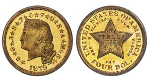 Storied 1879 Flowing Hair Stella in Heritage's U.S. Coins Auction